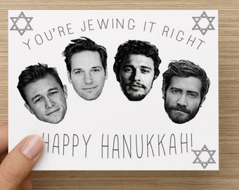 Happy Hanukkah Card! You're Jewing It Right!