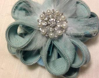 Blue Zipper Flower