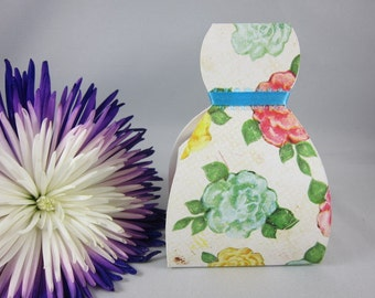 Set of 6 Flower Favor Box Dress