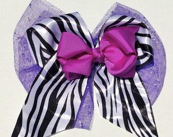 Glitter Zebra Bows