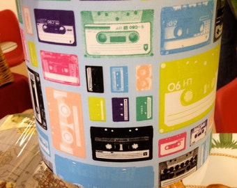 Mix tapes retro handmade lampshade
