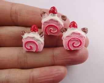 5pcs Kawaii resin cake cabochon for phone decoden