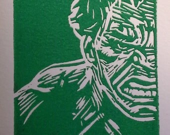 Bruce (The Incredible Hulk) Linocut Print