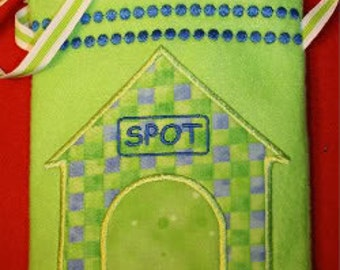 Snugglesack Spot's House Carrier Embroidery Machine design for the 5x7 hoop
