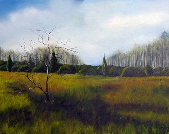 Meadow, oil on canvas