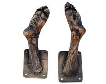 Bronze Foot Coat Hook 1