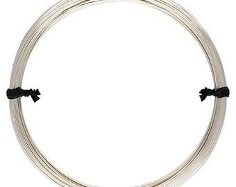 Sterling Silver Round Wire 22 gauge Half Hard - 1 oz.