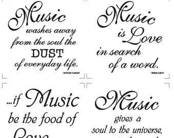 Music, Staff of Life Fabric Panel