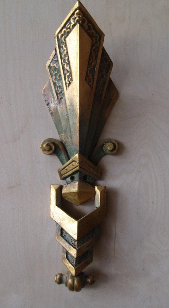 Art deco door knocker for Custom made door knockers