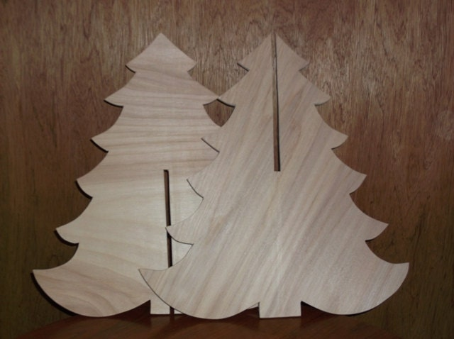 Unfinished Wooden Christmas Tree Holiday Tree Wood Tree