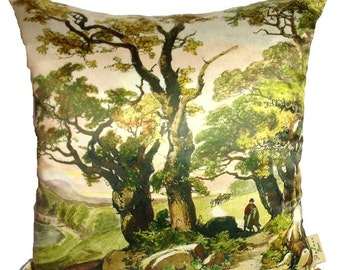 Old Oaks tree cushion/pillow. Oak trees are very old and ancient symbols of strength and endurance.