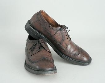 Leather Wingtip Brogues Men 9