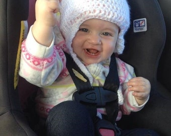 Newborn to child size hat. Boys or girls