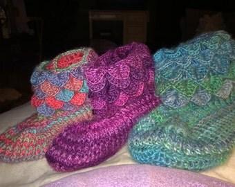 warm cozy crochet slippers for women
