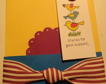 Thanks for the Support Handmade Greeting Card