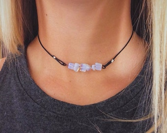Crystal Chip Choker Necklace