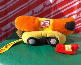 Oscar Mayer Plush Toy with Whistle and tag