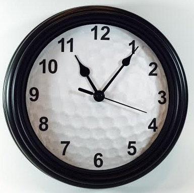 Unique Golf Ball Novelty Wall Clock