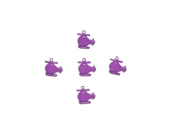 kids buttons , plastic buttons , purple ,  helicopter