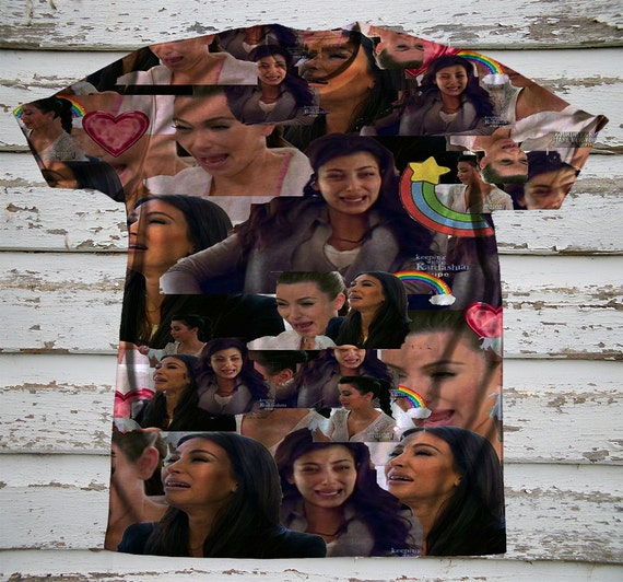 Kim kardashian crying collage shirt by hideftees on etsy - Kim kardashian crying collage ...
