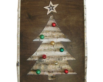 Christmas Tree Wall Decor with Medium Ornaments