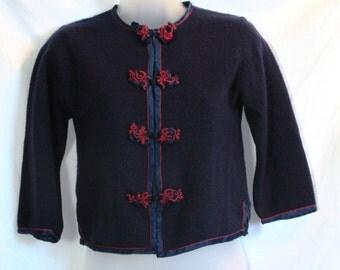 Vintage 1950s Navy Sweater