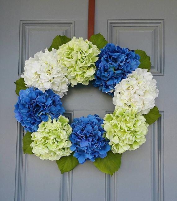 Wreath Hydranger Wreath Flower decorated by