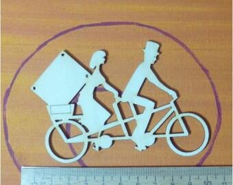 Tandem bike 10cm, gift for weddings birthdays Christmas with dollar bill holder
