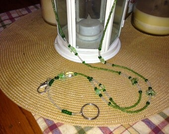 Beaded Combination ID and Key Lanyard