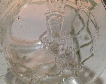 Vintage Planters MR. PEANUT Glass Jar Canister Diamond Pattern 1983