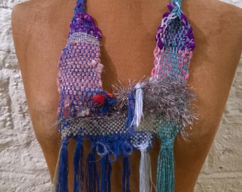 Weaving Blue Necklace