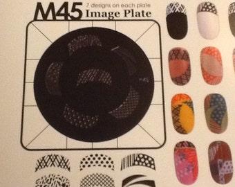 Konad Stamping Nail Art Image Plate m45