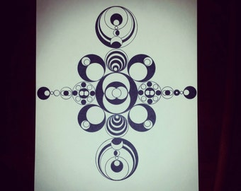 Abstract Geometric Hand Drawing