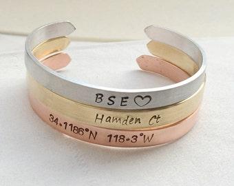 Personalized womens bracelet, personalized bangle, personalized jewelry, Personalized gift for women Gift for her womens gift for girlfriend