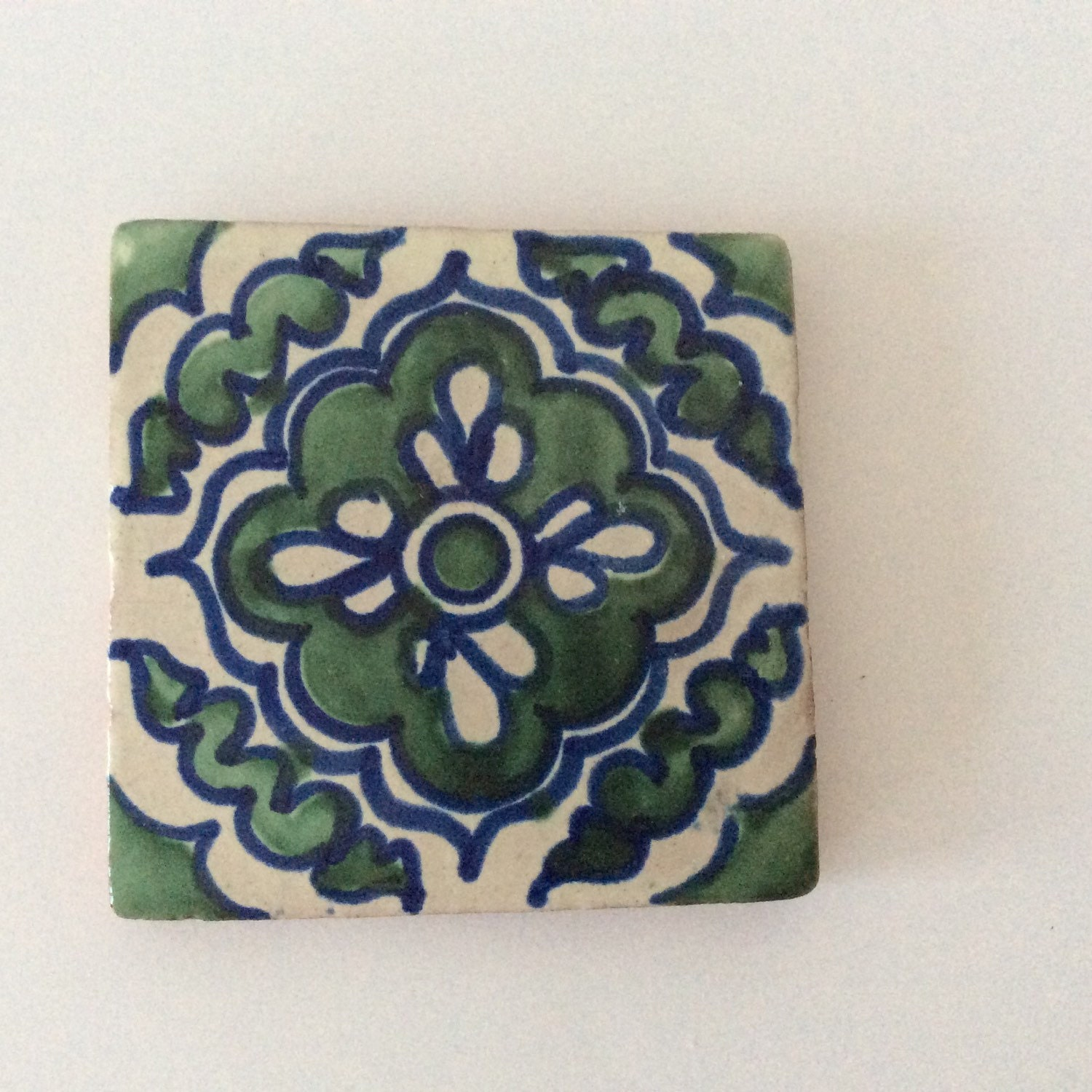 Painted Ceramic Tile Trivet Vintage By Projectobjectvintage