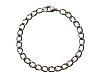 """Classic Stainless Bracelet for Charms for """"Snap-On"""" Charms"""