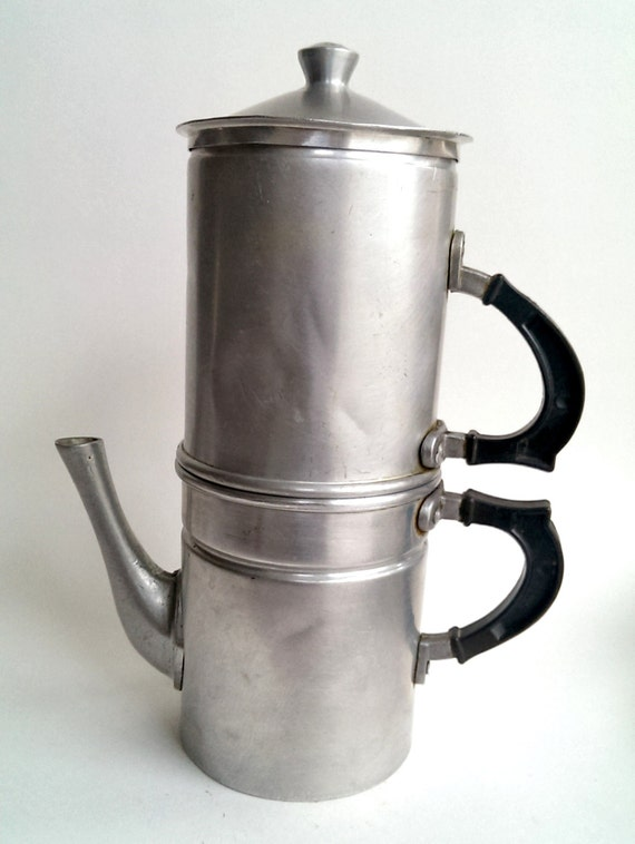 Italian vintage coffee maker 1940s by VoltageVintageItaly on Etsy