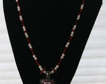 SALE-Red pendent neckless