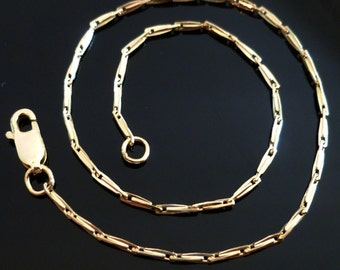 """9ct Solid Gold Egyptian Style Ladies Womens Chain Anklet 24cm's 9.5"""" AB7 9k 375, Gold Chain, lobster clasp, Women Free Gift Pouch"""