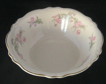 Homer Laughlin Round Serving Bowl In The Virginia Rose Pattern