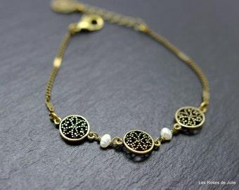 Art deco, Juliette bracelet, pearl