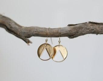 Circles earrings - gold 14 k