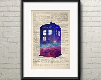 TARDIS DOCTOR WHO Dictionary Art Print - Dr Who Poster, Dr Who Print, Doctor Who Poster Wall Art Decor Artwork