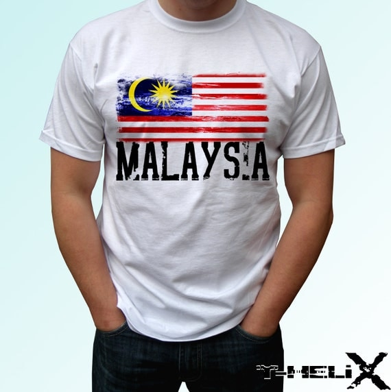 Malaysia Country: Malaysia Flag New White Holiday T Shirt Country Map Print