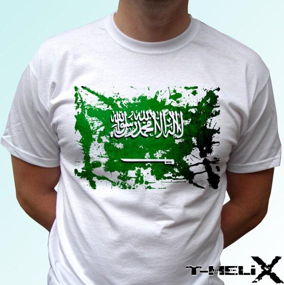 saudi arabia flag new white t shirt kingdom of saudi arabia