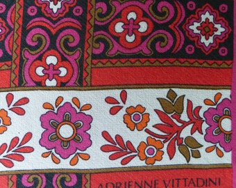 Adrienne Vittadini red and pink vintage scarf