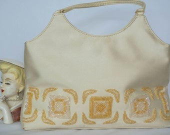 Retro Vintage Beaded Evening - Wedding Handbag