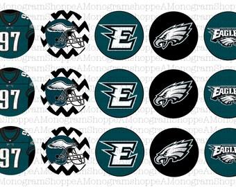 Philadelphia Eagles Inspired Bottle Cap Images