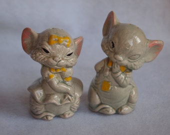 Vintage Mice Salt and Pepper Shakers
