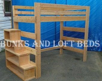queen size loft bed | etsy